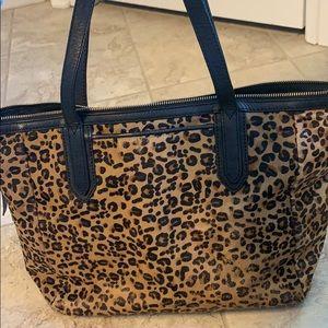 Fossil Leopard hair on hide purse